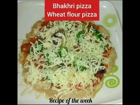 Bhakhri pizza/ભાખરી પિઝા/wheat flour pizza/how to make wheat flour pizza/homemade pizza