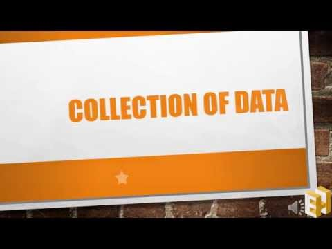 Collection of data: Primary data