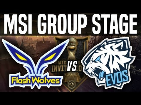 FW vs EVS - MSI 2018 Group Stage Day 3 - Flash Wolves vs EVOS Esports | League of Legends MSI 2018