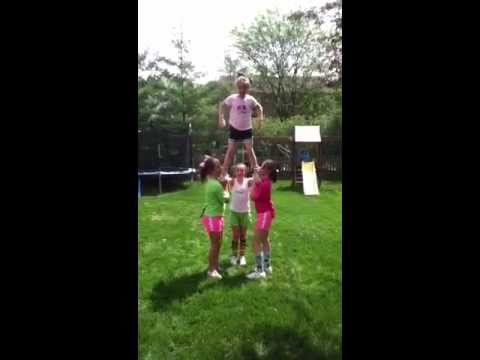Really cool cheer stunts for beginners