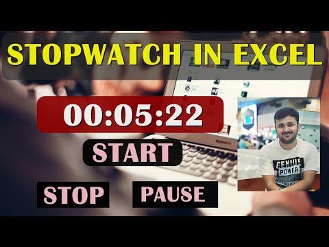 stopwatch through Excel vba