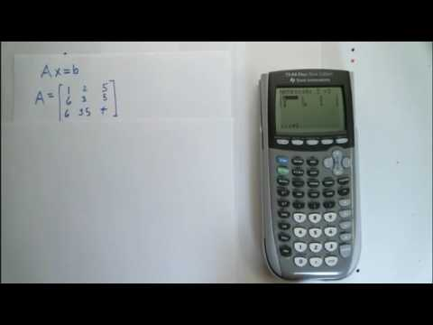 Find the reduced echelon form of a matrix using a calculator
