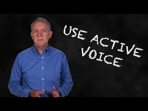 Communicating Science and Research - Lesson 4:  Use Active Voice
