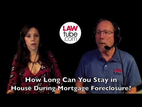 How long can you stay in house during foreclosure?