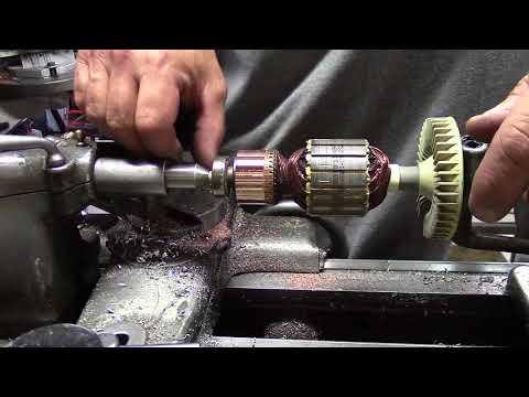 Vertical shear tool for armature repair