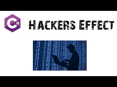 C# Winform Hackers Effect in Hindi