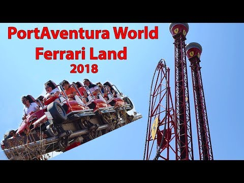 2018 Ferrari Land: Red Force & Free Fall Tower PortAventura World Spain Salou