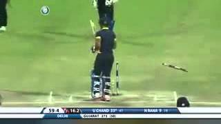 Bumrah awesome bowling  breaks the stump  into half  .  5 wicket haul
