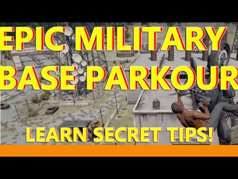 PUBG MILITARY BASE PARKOUR GUIDE - CLIMB ON EVERY BUILDING!