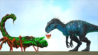 Download Ark Survival - GIANT SCORPION vs INDOMINUS REX/TREX/SPINO/ALPHA TREX/BRONTO and more [Ep.347] Video
