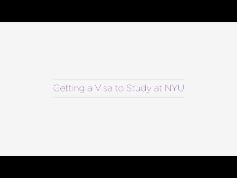 Getting a Visa to Study at NYU