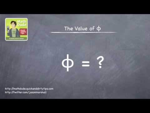Math Dude 017 • Video Extra! • What is the Golden Ratio?