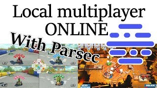 Play Local Multiplayer Games online with Parsec!