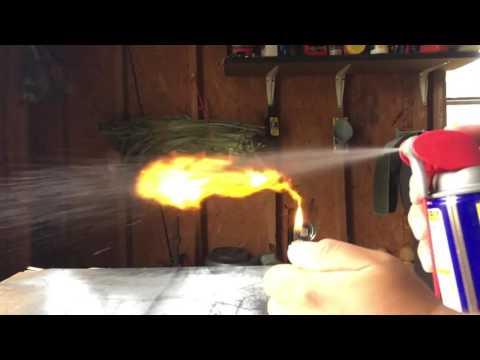 WD40 + Lighter = FLAMETHROWER
