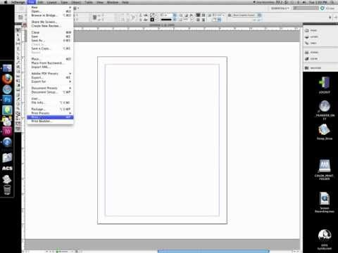 How to print thumbnails from InDesign