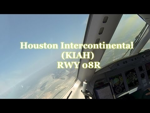 Landing in Houston Intercontinental Airport. Sukhoi SSJ100