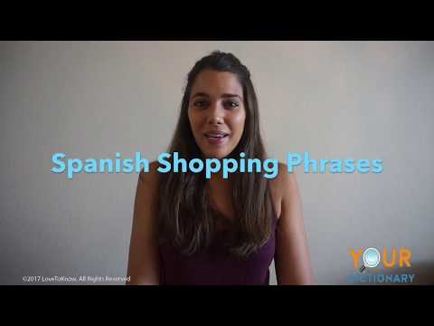 Spanish Shopping phrases
