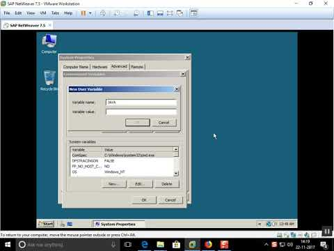 How to setting the environment Variable on Windows Server 2008