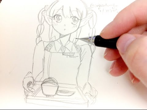 Drawing anime characters easy (Real Time)