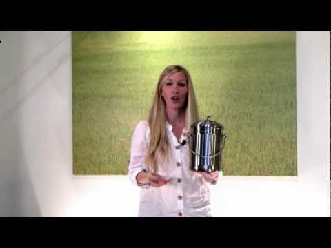 Brushed Stainless Steel Compost Pail Demo / Review