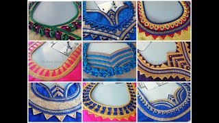 50 simple and latest back neck designs of a blouse  | fashion designing