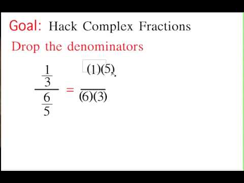 Hacking Complex Fractions (For students)