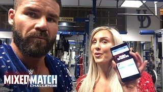 Bobby Roode and Charlotte Flair are scouting the WWE Mixed Match Challenge competition