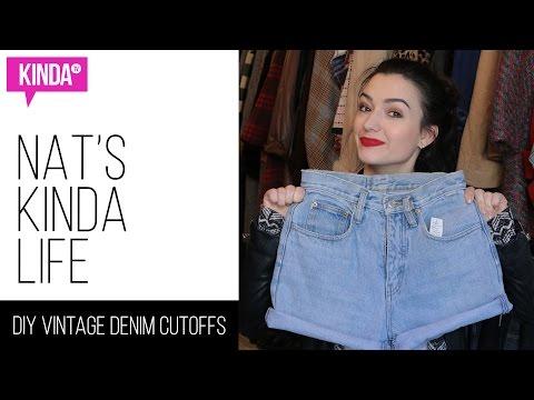 DIY Vintage Denim Cutoffs | KindaTV ft. Natasha Negovanlis