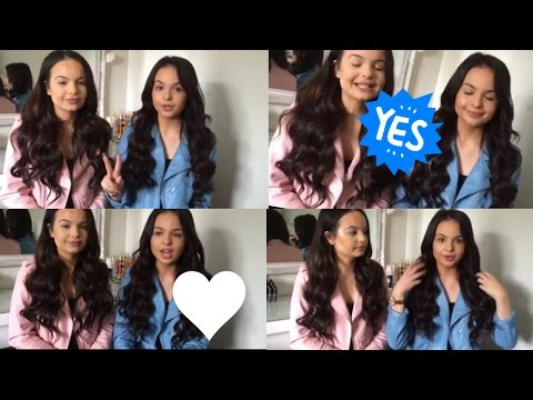 HOW TO GET BIG LOOSE CURLS WITH HAIR EXTENSIONS - AYSEANDZELIHA