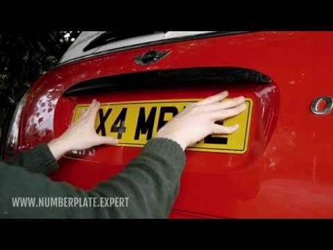 How to attach a number plate to a car [sticky pads method]