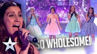 Frozen's 'Let It Go' sung by 4 PRINCESSES!   Live Shows   BGT Series 9
