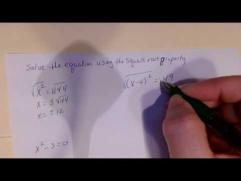 Solve using the square root property