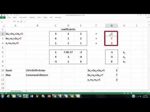 Matrix Elimination in Excel