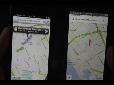Google Maps App vs. Apple Maps