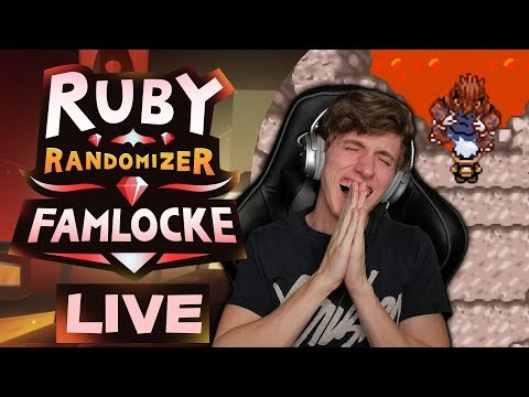 FAMLOCKE LIVE!! ENCOUNTERS & MORE | Pokemon Ruby Randomizer Famlocke EP 19