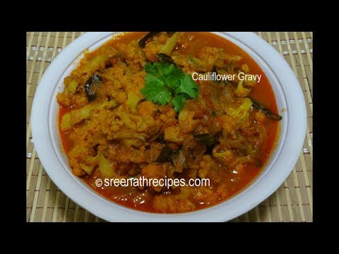 Cauliflower Masala Gravy - Cauliflower Curry  - Gobi Masala Curry