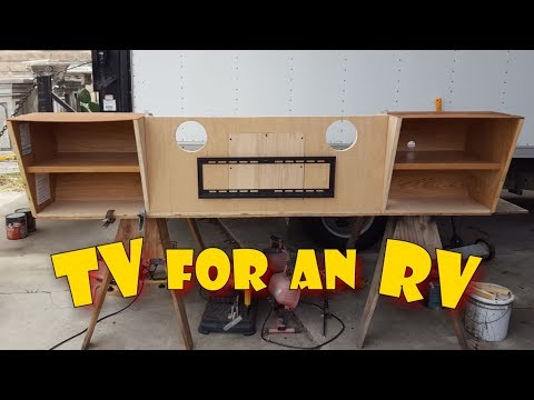 RV Remodel - Motorhome Cabinet Renovation For Flat Screen