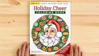 Holiday Cheer Coloring Book Flip Through