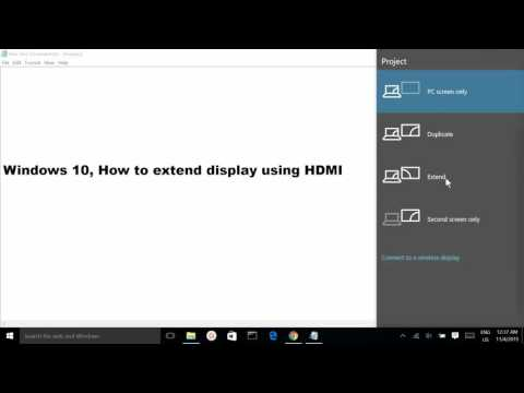 Windows 10, How to extend display using HDMI