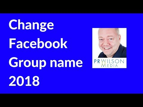 How to change a group name on Facebook 2018