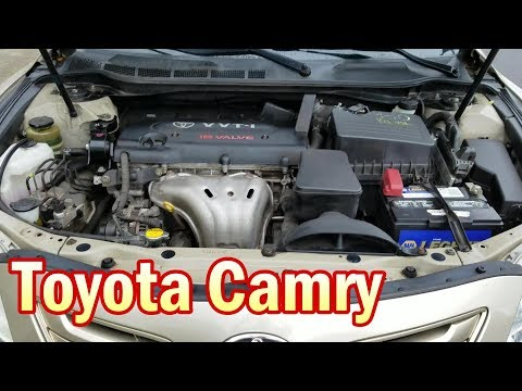 Location of parts under hood Toyota Camry 2006-2011