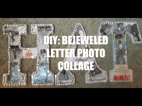 Valentine's Day Gift Idea | DIY Gift Idea| Bejeweled Letter Photo Collage| aBrushofBre