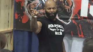 CT Fletcher at the LA Fit Expo 2017