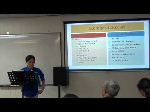 How to Improve College Application - Dr. Yoshida