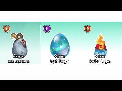 Dragon City Gameplay Level 80 (Got Legendary Crystal Dragon EGG, Fallen Angel & IceFire EGG)
