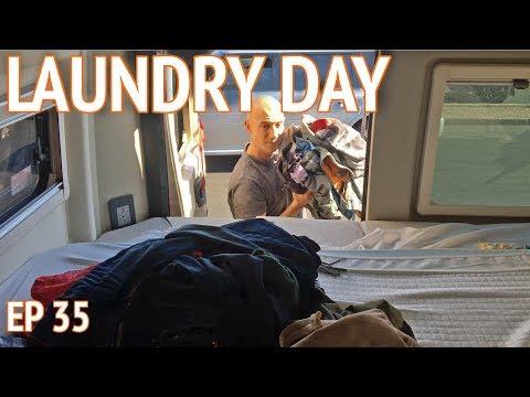 Laundry in a Van   EP 35 Camper Van Life