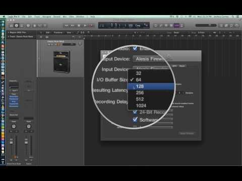 Logic Pro X - Video Tutorial 03 - Sample Rate, Bit Depth, I/O Buffer, Setting up for Recording