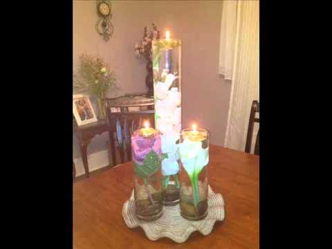Glass Centerpieces With Floating Candles