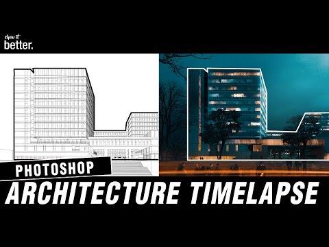 Office Building Visualisation Timelapse in Photoshop