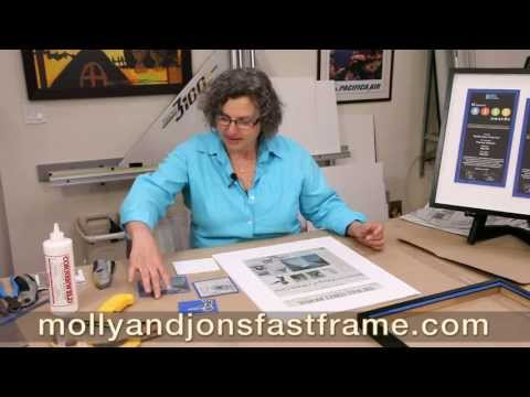How To Turn A Newspaper Article Into Framed Art Work